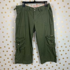 Lucky Brand Army Green Cropped Cargo Pants